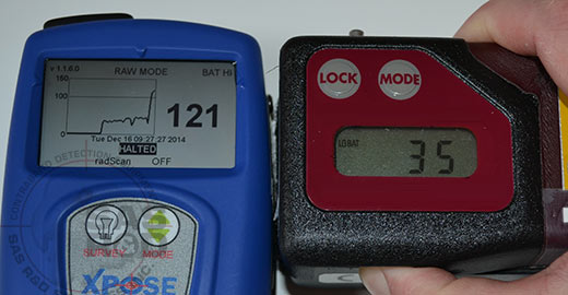 Comparison of Xpose Density Meter screen size vs competitor