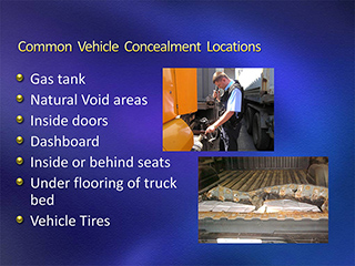 Common Vehicle Concealment Locations